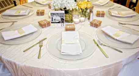 Close-up of place settings